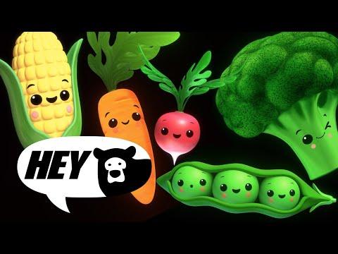 Hey Bear Sensory - Funky Veggies! - Fun Dance Animation with Music- Baby Sensory