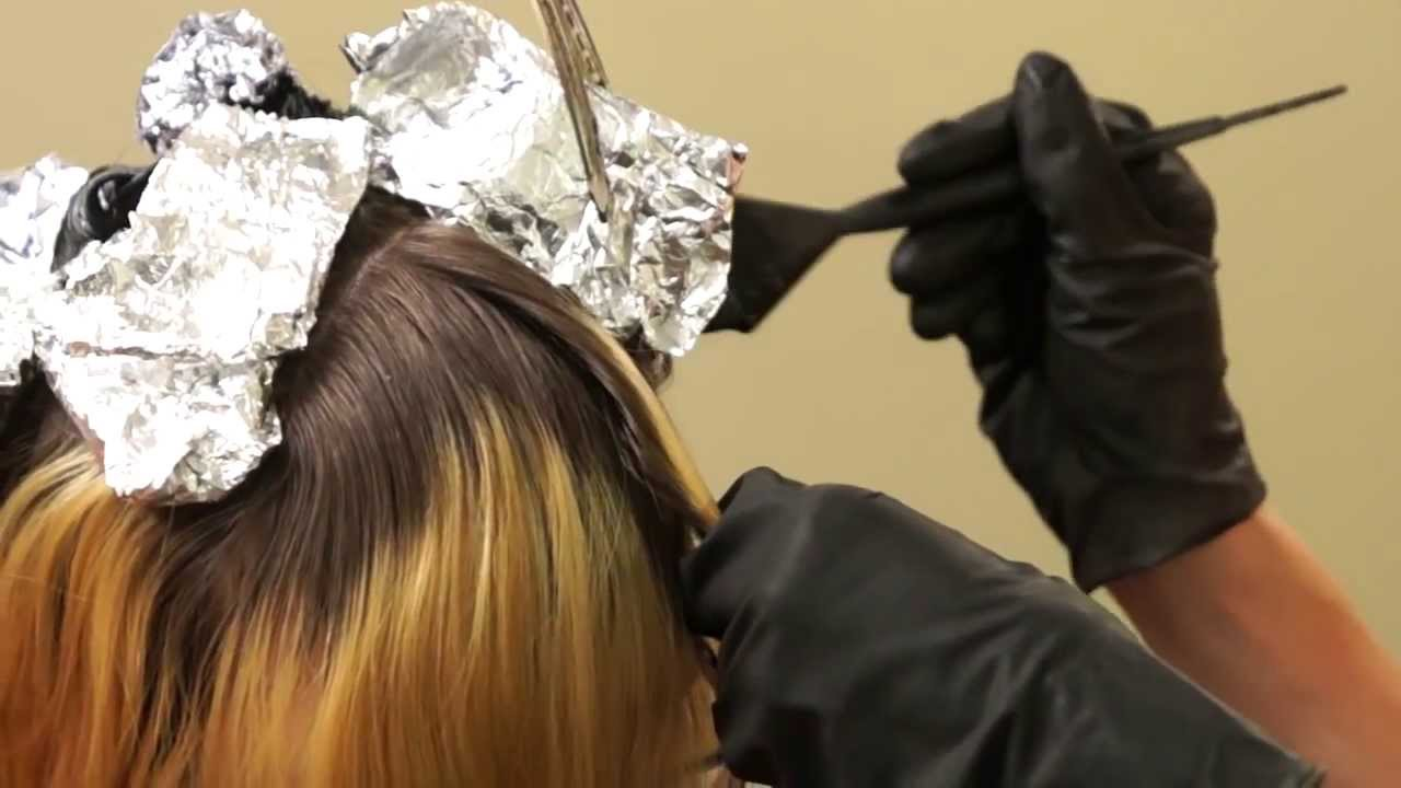 How To Color Womens Hair Star Panel Hair Color Weave Youtube