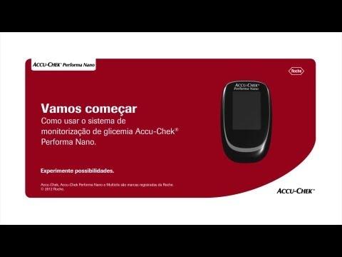 Como fazer o teste de glicemia no seu monitor Accu-Chek Performa Nano ®
