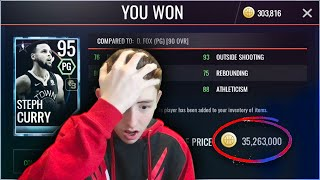 I MISCLICKED AND LOST 35 MILLION COINS! 50 MILLION COIN SHOPPING SPREE | NBA Live Mobile