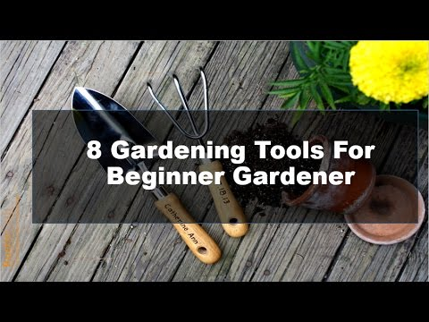 8 gardening tools and equipment for beginners youtube for Gardening tools beginners