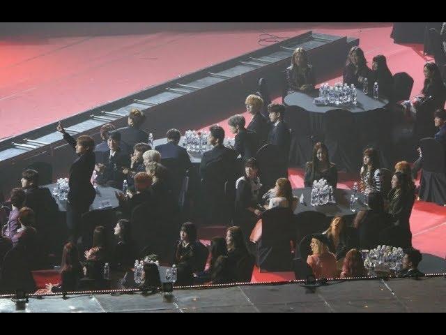 180125 방탄소년단 (BTS),블랙핑크(BLACKPINK),뷔(V) 세계미남1위 언급 , 블랙핑크 본상수상 축하직캠 Fancam (2018 서울가요대상) by Mera