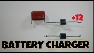 Battery Charger using only Diode and capacitor