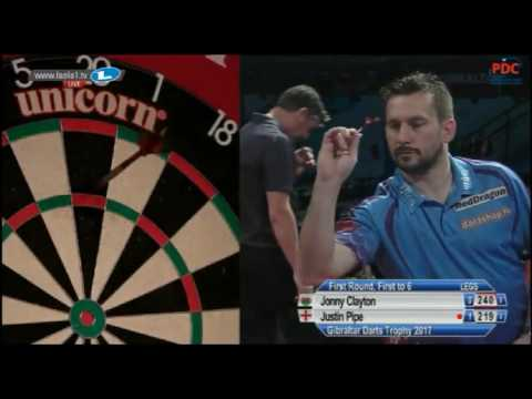 2017 Gibraltar Darts Trophy Round 1 Clayton vs Pipe
