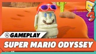 Super Mario Odyssey - Sand Kingdom & New Donk City Gameplay Demo | E3 2017 Nintendo Treehouse