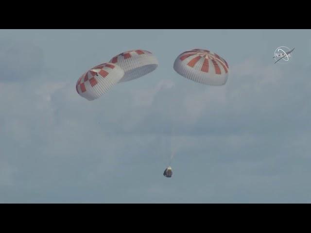 a99fa7d5f56bc Splashdown of SpaceX Crew Dragon