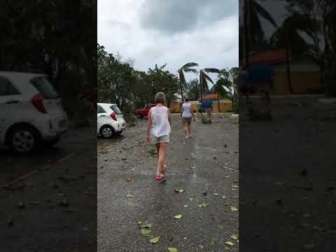 Sol Palmeras, bungalow area near car park, Hurricane Irma, Varadero, Cuba