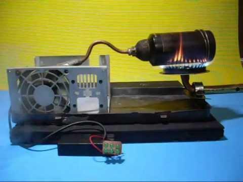 Generador casero a vapor con cooler de pc youtube - Generadores de electricidad ...