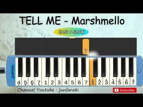 not pianika tell me - marshmello melodica slow