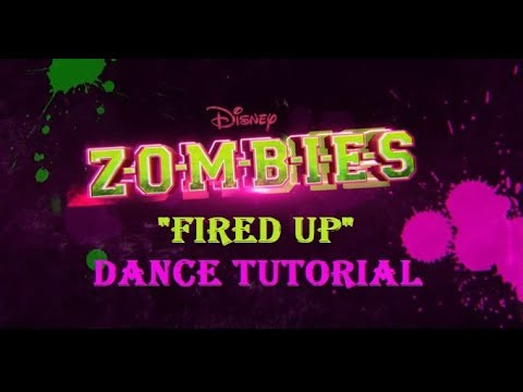 Fired Up Dance Tutorial | ZOMBIES | Disney Channel