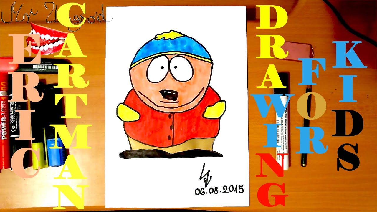 how to draw south park cartman
