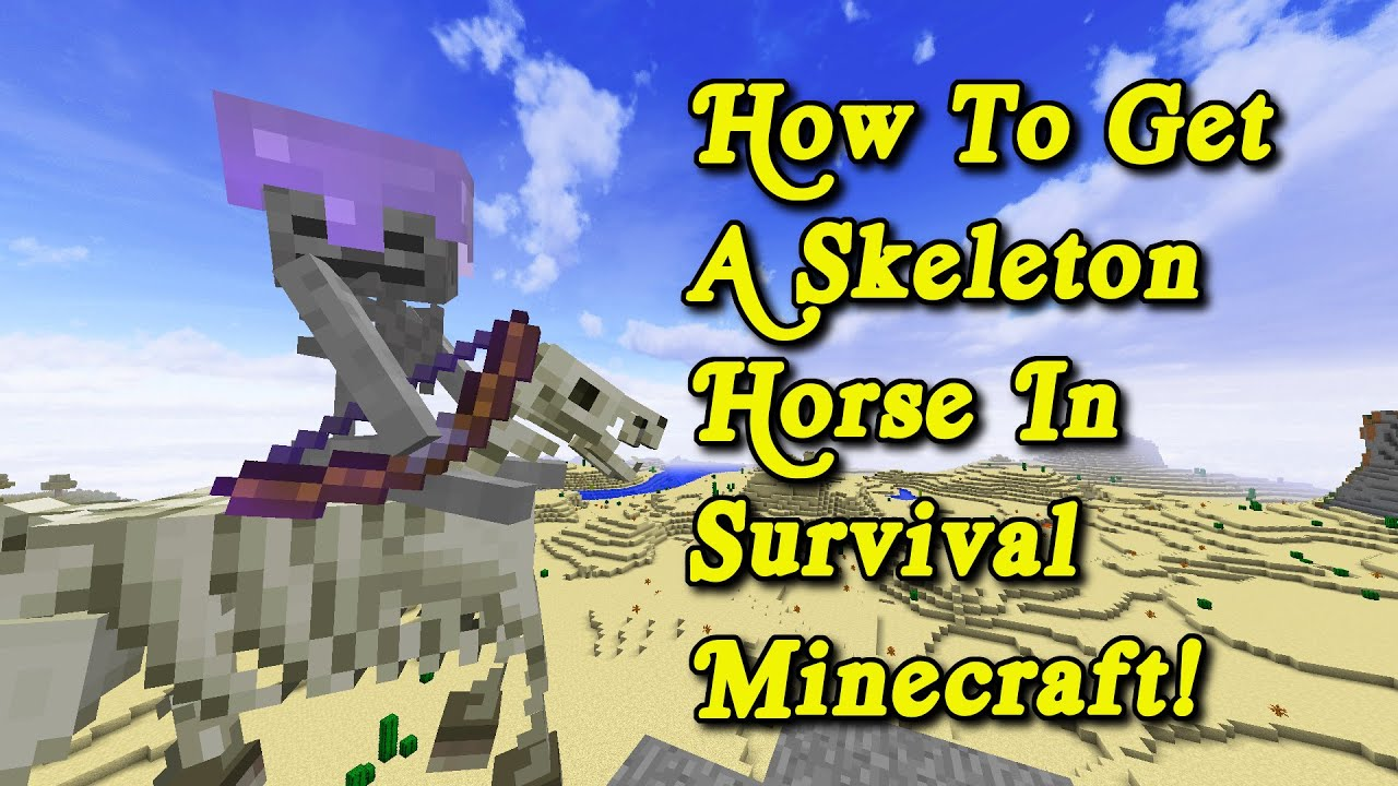 Minecraft Tutorial - How To Get A Skeleton Horse In Survival