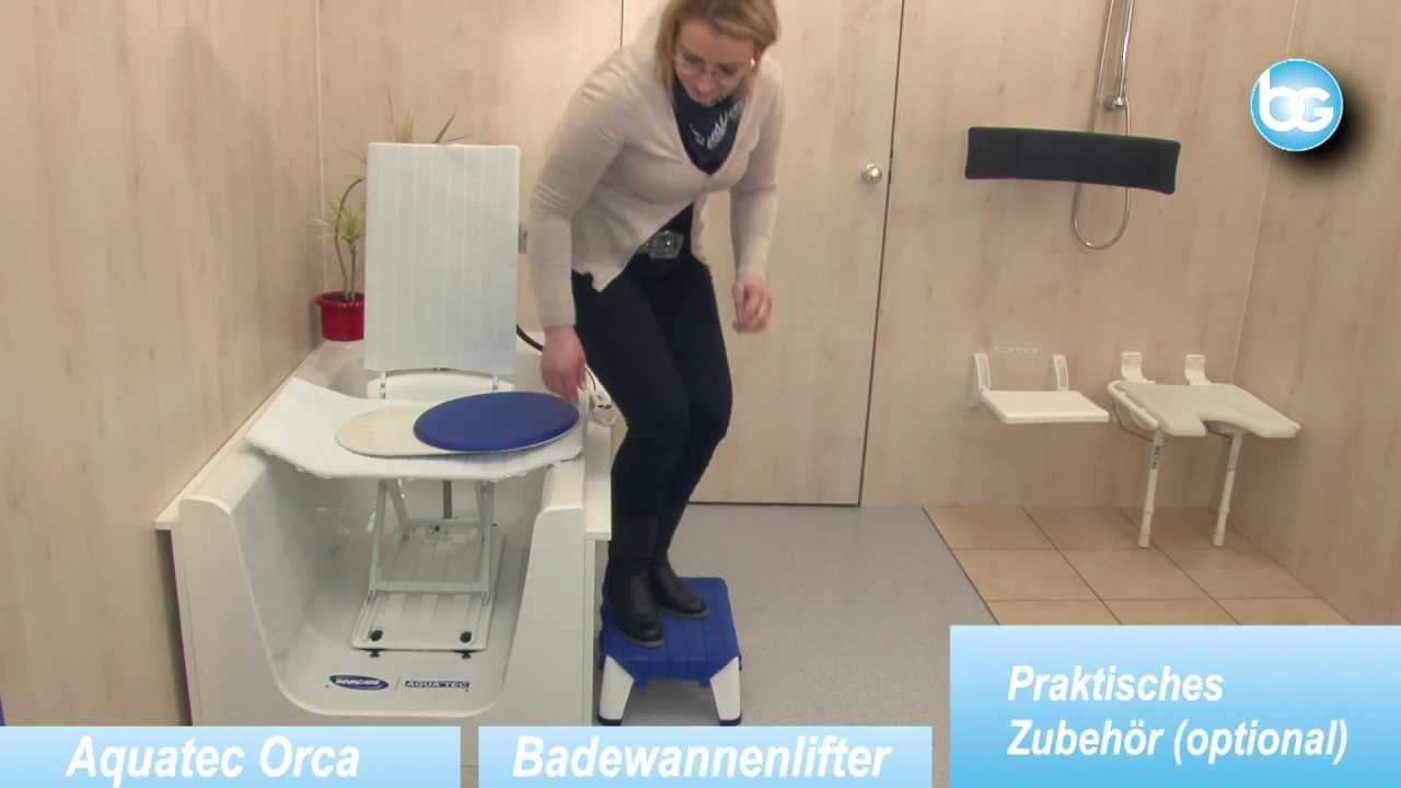 Invacare Badewannenlifter Aquatec Orca Wwwburbach Goetzde Youtube