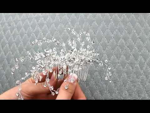 Dramatic Swarovski Crystal Hair Comb By Hair Comes The