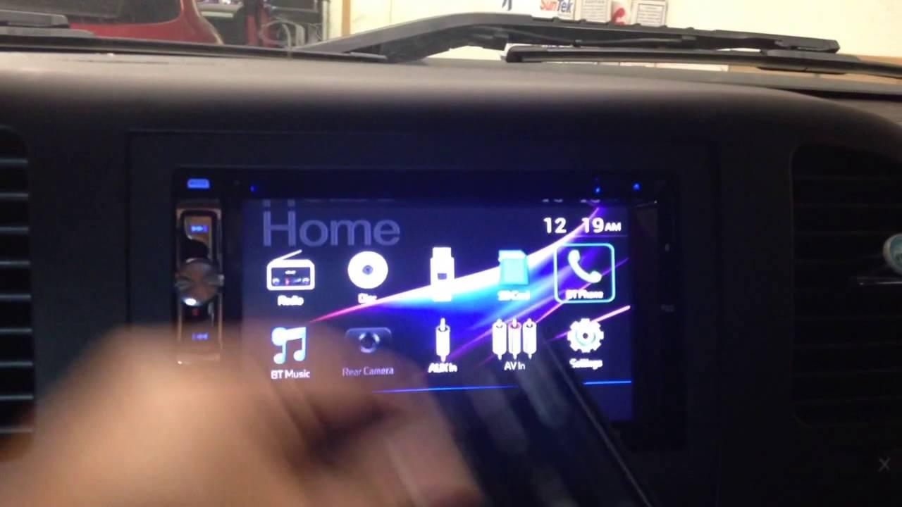 2012 GMC Sierra  Dual dv526bt  Double din touchscreen  Bluetooth