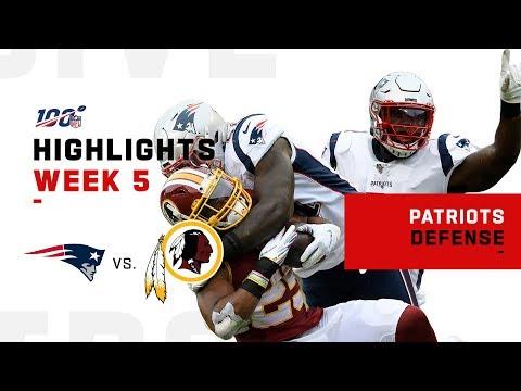 Pats Defense Stops Washington in Their Tracks   NFL 2019 Highlights