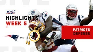 Pats Defense Stops Washington in Their Tracks | NFL 2019 Highlights Video