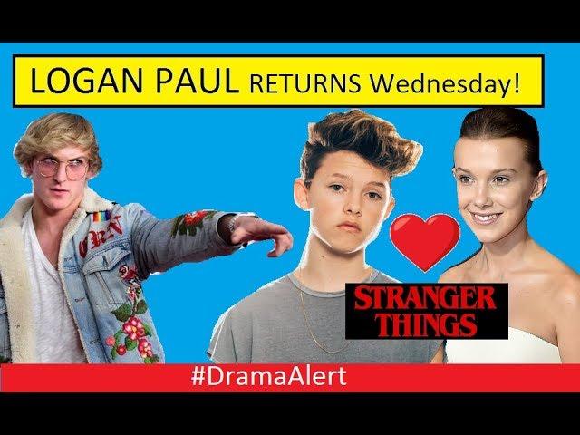 Logan Paul returns to YouTube WEDNESDAY! #DramaAlert Jacob Sartorius & Eleven Dating!
