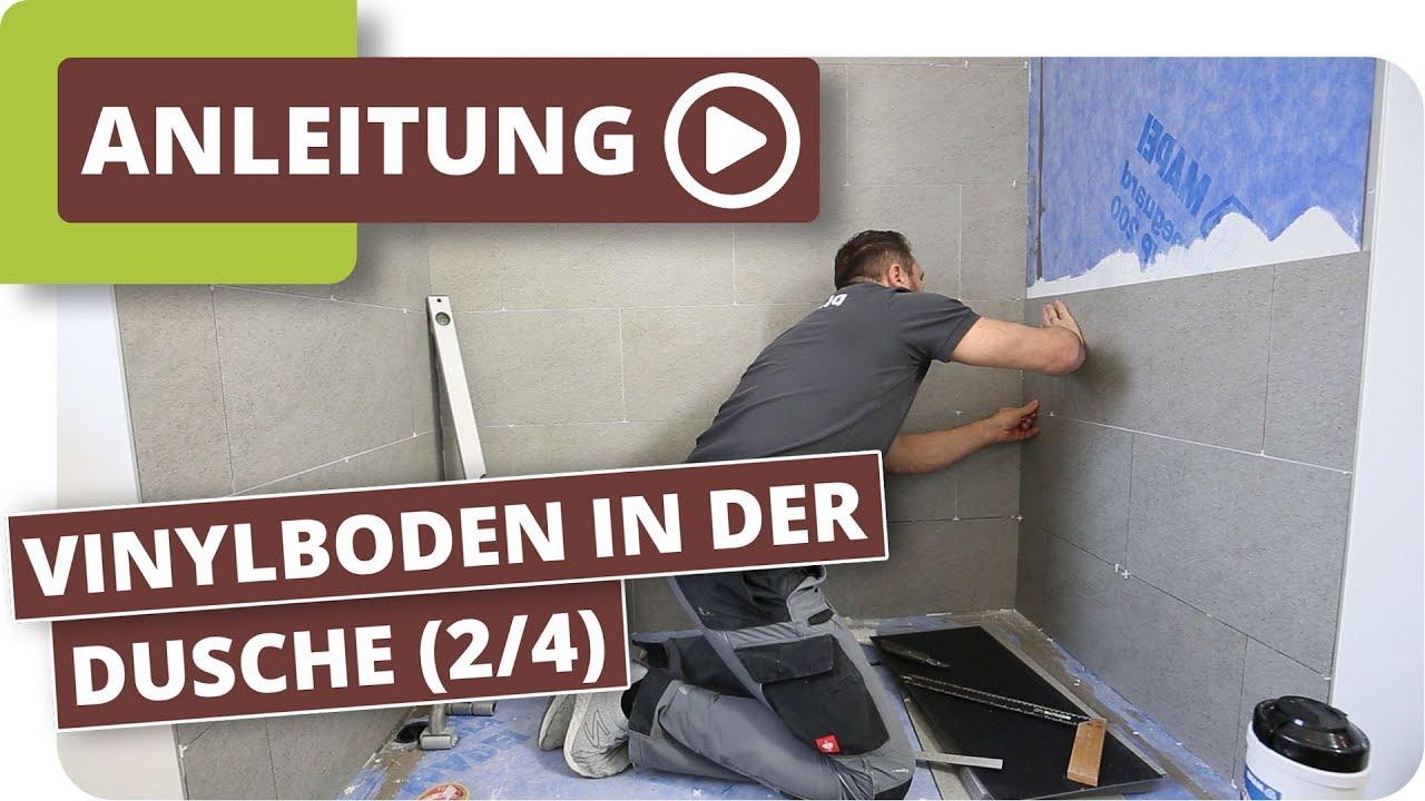 Vinylboden in der Dusche - Vinylboden verlegen (Teil 2/4)