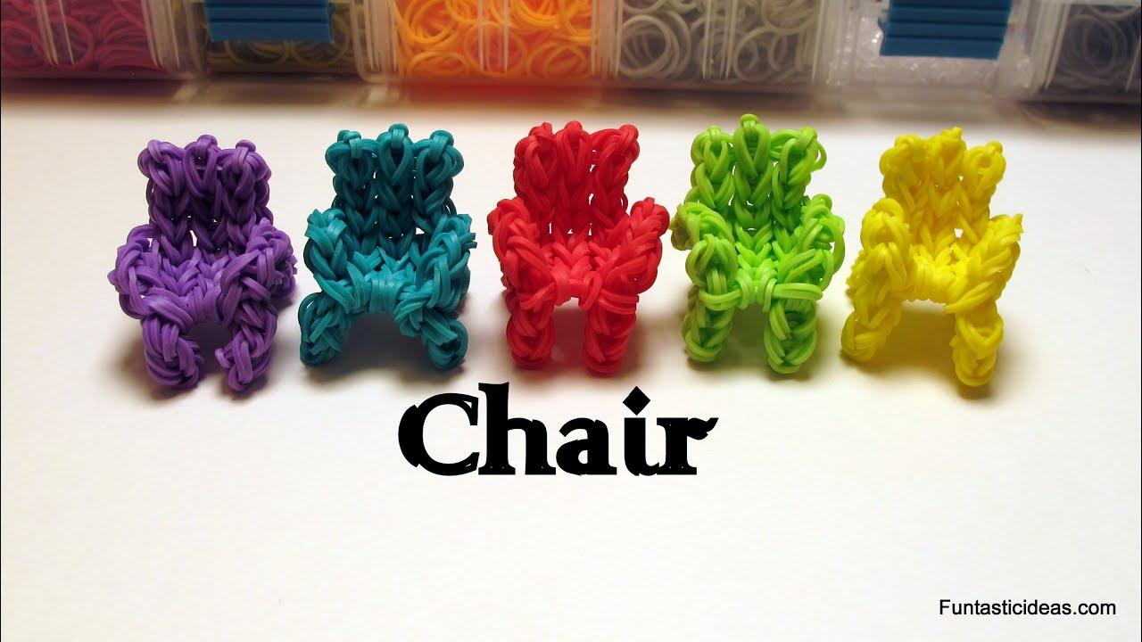 Rainbow Loom 3d Chair Sofa Couch Charm How To Home