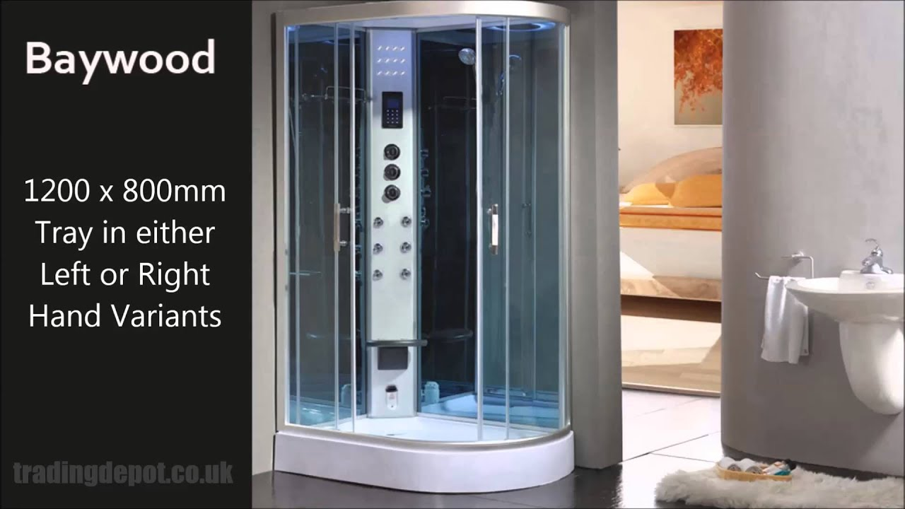 Aqualusso Steam Shower Cabins - YouTube