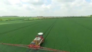 Drone video - Winter wheat crop spraying, May 2016