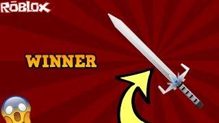 DID YOU WIN THE ELEGANT BLADE?! *INSANE* (ROBLOX ASSASSIN ELEGANT BLADE GIVEAWAY WINNER!)