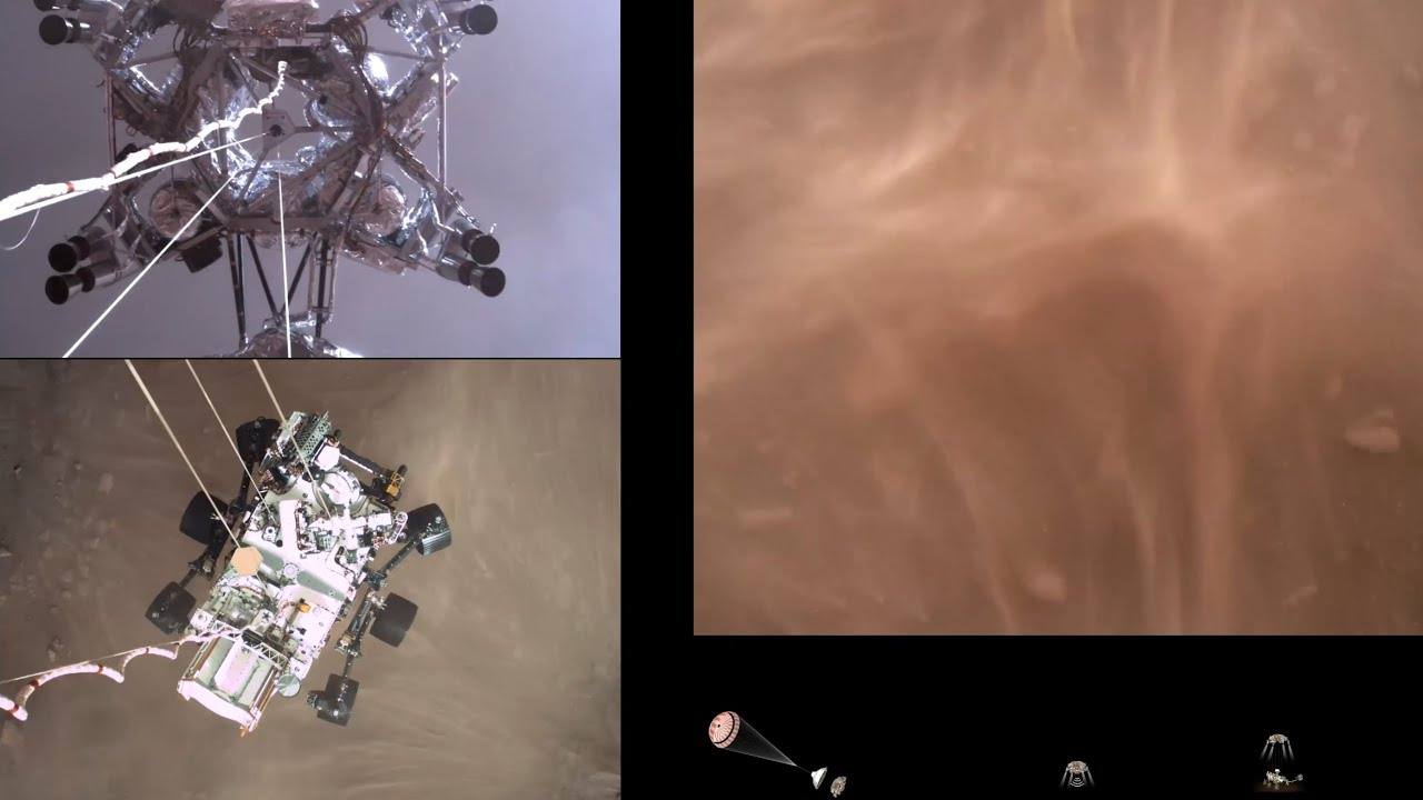 Download Perseverance Rover's Descent and Touchdown on Mars (Official NASA Video)