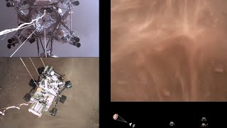 Perseverance Rover's Descent and Touchdown on Mars (Official NASA Video)