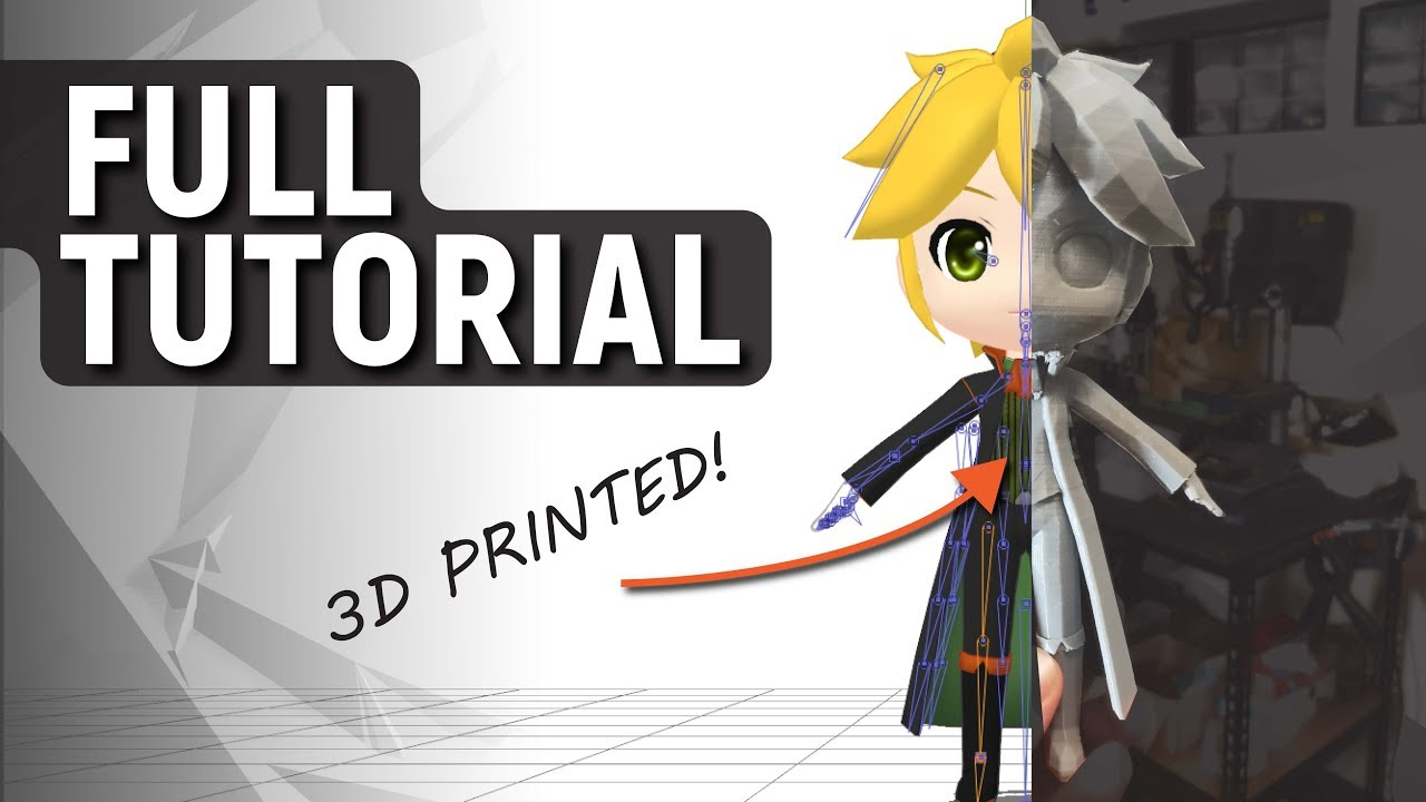 How to 3D Print PMD / PMX Models from MikuMikuDance! Tutorial