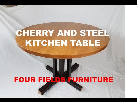 Cherry Pedestal Kitchen Table  Four Fields Furniture  Minneapolis and St. Paul