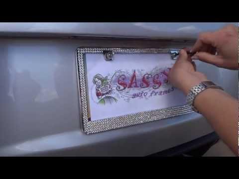 Install A Mega Swarovski License Plate Frame
