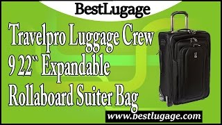 9bb76ab60 Travelpro Luggage Crew 9 22 Inch Expandable Rollaboard Suiter Bag Review ...