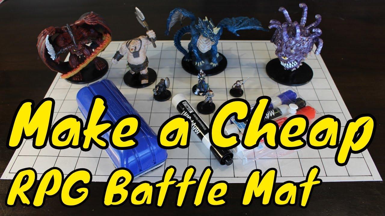 Making a Cheap Blank RPG Battle Mat (D&D or Pathfinder)