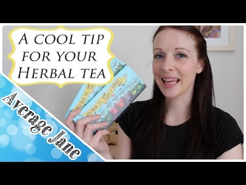 A quick tip on how I drink more water - Herbal Tea