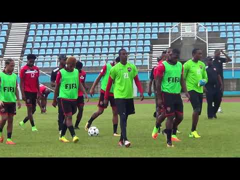 WATCH Trinidad and Tobago Senior Team Training ahead of Guadeloupe and Martinique Friendlies