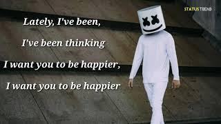 Marshmallow ft. Bastille - Happier | Whatsapp Status |