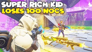 Super Rich Kid Loses 100 God Nocturnos! 😱 (Scammer Gets Scammed) Fortnite Save The World