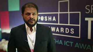 Yusaf Raza at P@SHA ICT Awards 2017
