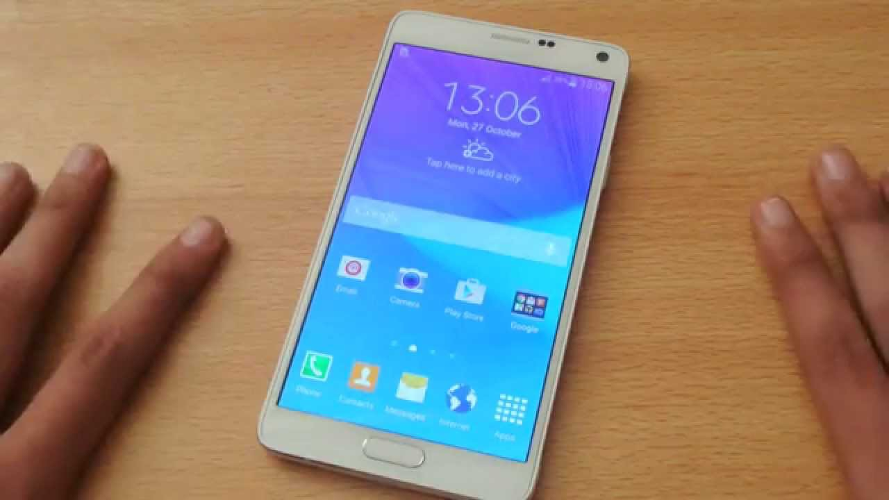 Samsung Galaxy Note 4 Android 4 4 4 KitKat Review HD - YouTube