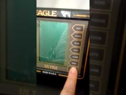 Eagle Ultra Portable Fish / Depth Finder Complete W/ Transducer And Batteries