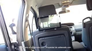 Soporte tablet para reposa cabezas de coche tableta iOS® iPad® Android® distribuido por CABLEMATIC ®
