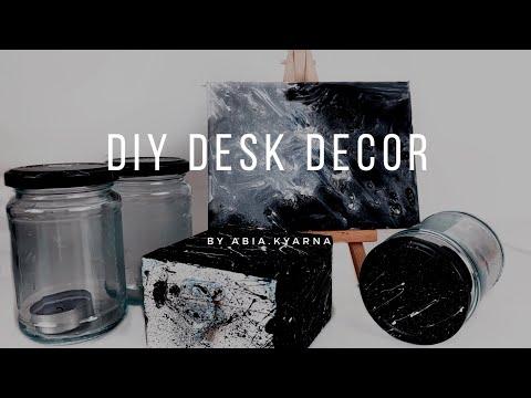 DIY Desk Decorations | office decor | Abia.kyarna