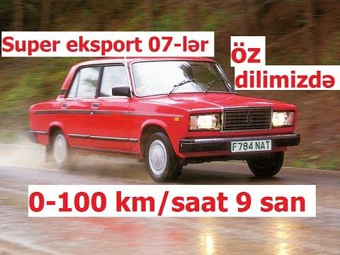 Turbolu VAZ-2107 və 07-nin digər eksport versiyaları (Azərbaycan dilində şərh)