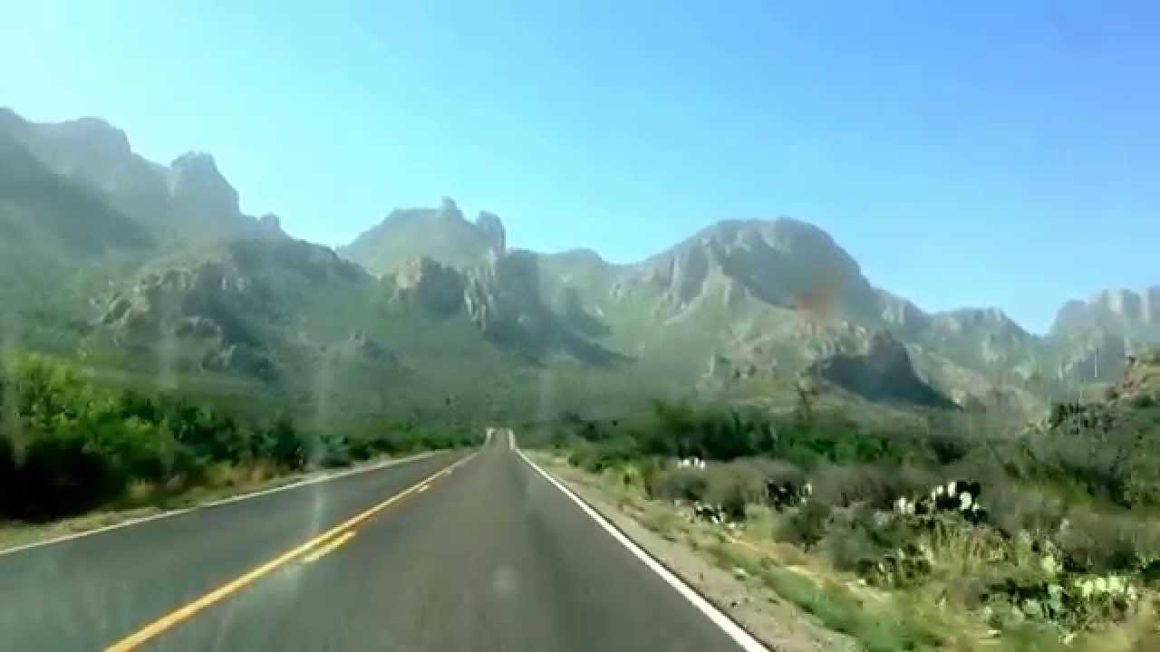 Chisos mountains in big bend national park, Texas. Bear ...
