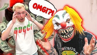 SCARING My RICH Friend With A CLOWN MASK For A Whole Night..