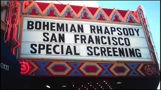 Bohemian Rhapsody SF screening cast interviews with Rami Malek, Joe Mazzello and Gwylim Lee