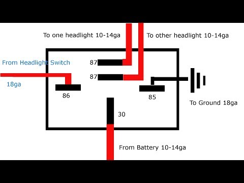 how to wire a 30 40 amp relay 20 33