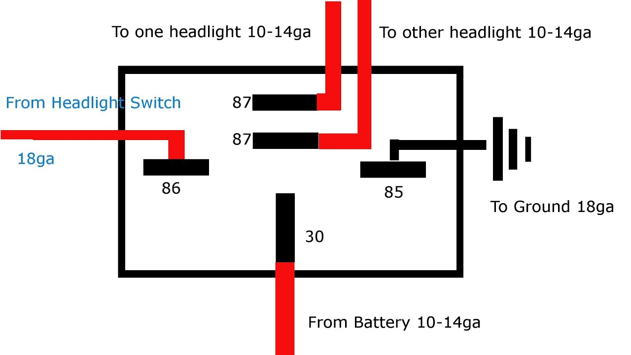why and how to relay headlights youtube using two lights relay diagram light relay diagram #12