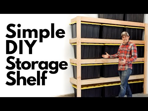 How To Build SIMPLE DIY STORAGE SHELVES